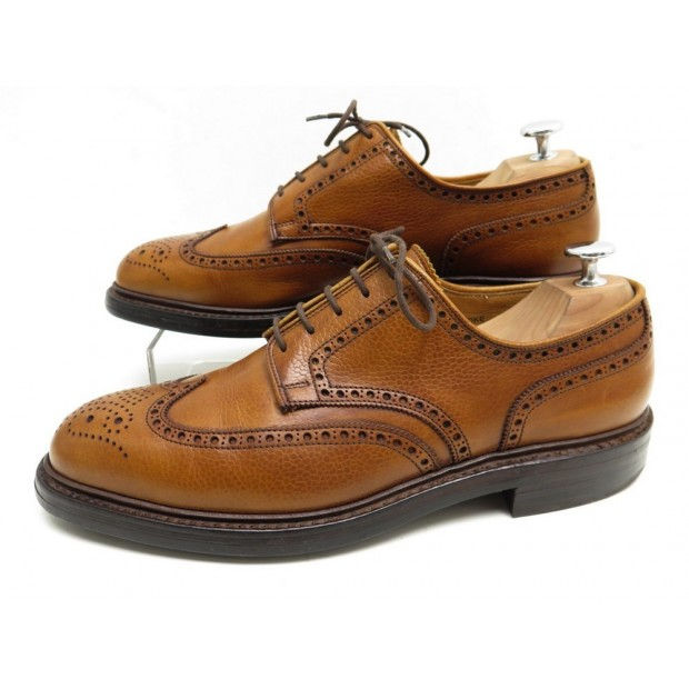NEUF CHAUSSURES CROCKETT & JONES PEMBROKE 8679 7.5E 41.5 DERBY MARRON SHOES 530€
