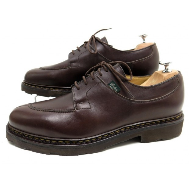 NEUF CHAUSSURES PARABOOT AVIGNON CAFE 9 43 DERBY EN CUIR MARRON SHOES 360€
