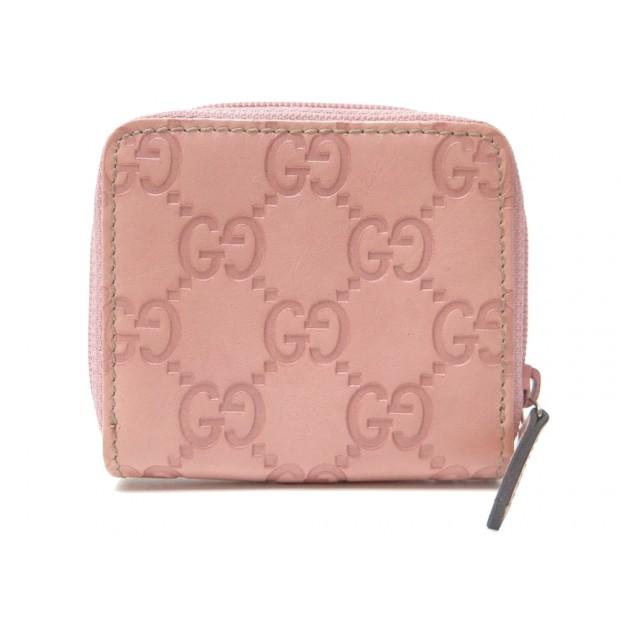 PORTE MONNAIE GUCCI SIGNATURE 115255 EN CUIR MONOGRAMME ROSE PINK WALLET 230€