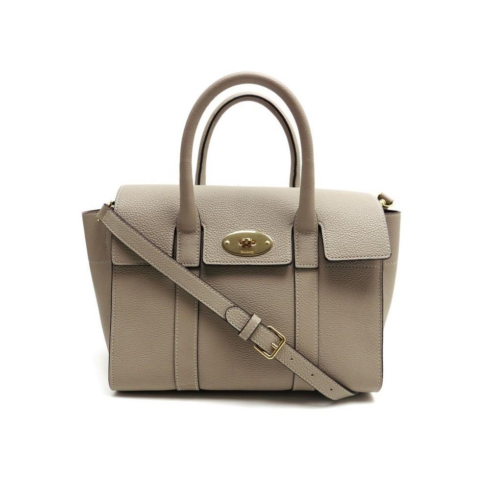 7c311a89bb NEUF SAC A MAIN MULBERRY BAYSWATER CUIR GRAINE TAUPE LEATHER HAND BAG  PURSE. Loading zoom