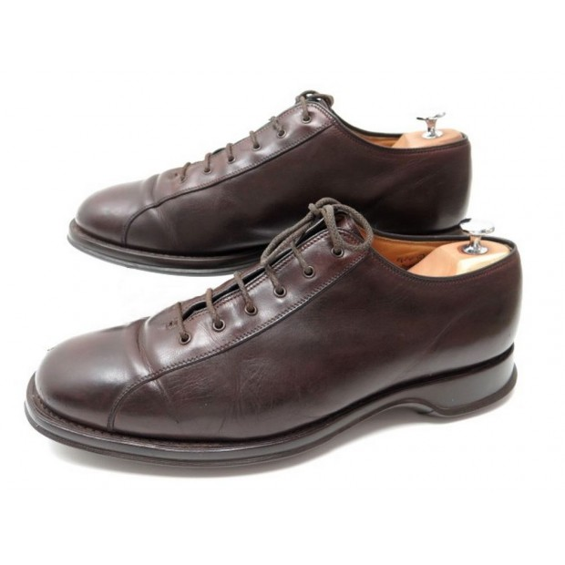 CHAUSSURES CHURCH'S BASKETS 9.5F 43.5 EN CUIR MARRON SNEAKERS LEATHER SHOES
