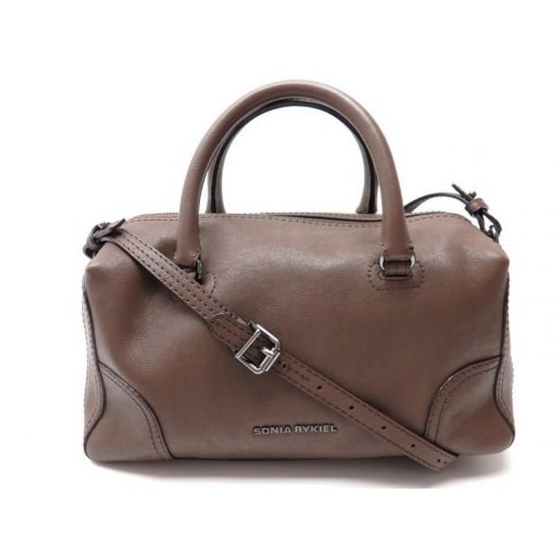 NEUF SAC A MAIN SONIA RYKIEL BANDOULIERE EN CUIR MARRON HAND BAG PURSE 500€
