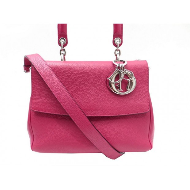 NEUF SAC A MAIN BE DIOR SMALL BANDOULIERE PORTE EPAULE EN CUIR ROSE PURSE 3300€