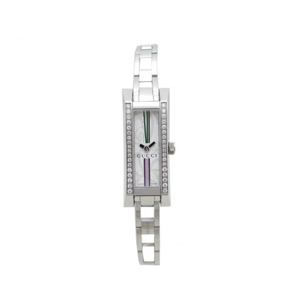 MONTRE GUCCI YA110508 CLASSIQUE QUARTZ ACIER & DIAMANTS DIAMONDS WATCH 1855€