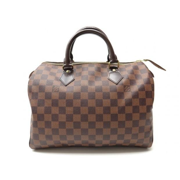 SAC A MAIN LOUIS VUITTON SPEEDY 30 EN TOILE DAMIER EBENE HAND BAG PURSE 760€