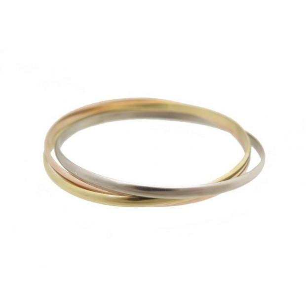 BRACELET CARTIER TRINITY ANNEAUX 3 ORS B6050217 19.5 CM 33GR ECRIN BANGLE 6450€