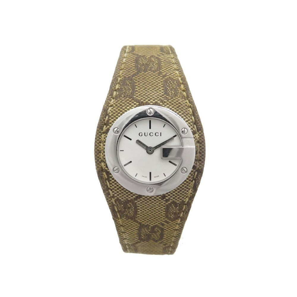de1a00d42df MONTRE GUCCI 104 FORCE TOILE MONOGRAMMEE. Loading zoom