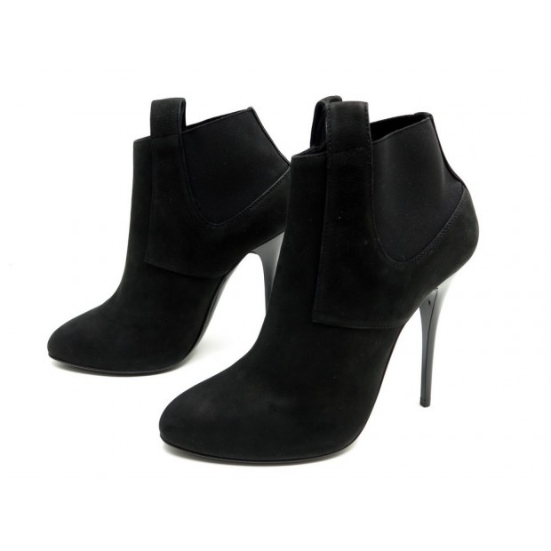 NEUF CHAUSSURES GIUSEPPE ZANOTTI 38 IT 38.5 FR BOTTINES DAIM NOIR LOW BOOTS 750€