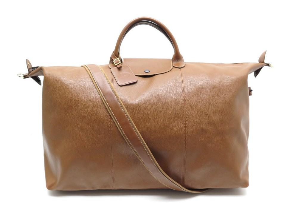 sac de voyage a main longchamp le foulonne xl en cuir