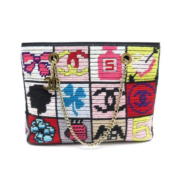 a7eddf9a9c3 sac a main chanel patchwork symboles precieux