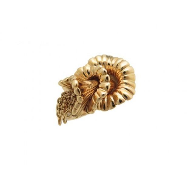 NEUF BAGUE BOUCHERON EXQUISES CONFIDENCES T 53 EN OR ROSE 18K DIAMANTS GOLD RING