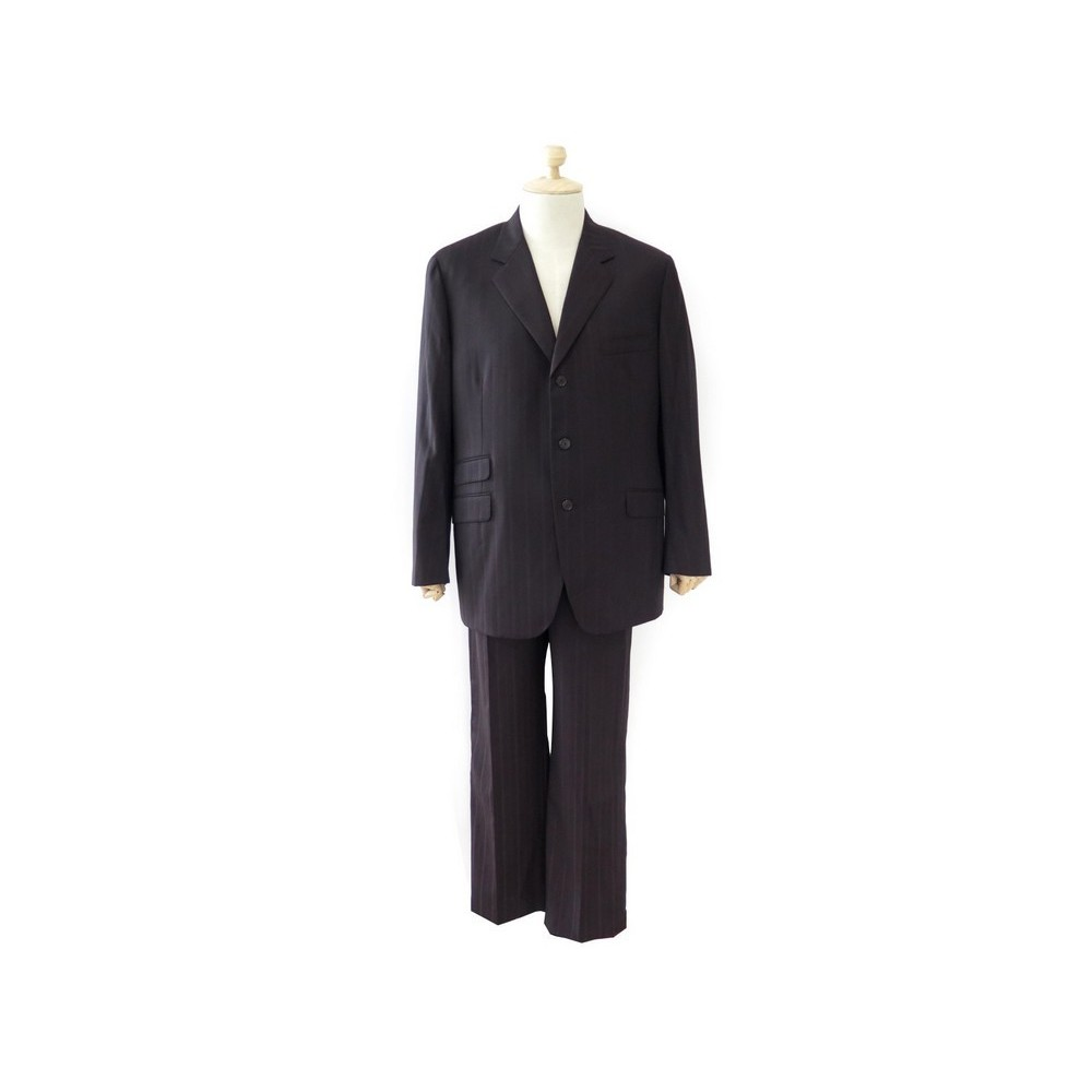3584a95d33d0 COSTUME HERMES BOSTON A RAYURE HOMME. Loading zoom
