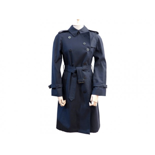 IMPERMEABLE TRENCH BURBERRY LONDON 40 M CINTRE AVEC CEINTURE BLEU MARINE 1595€