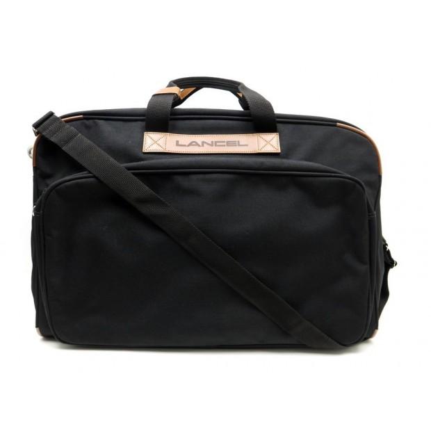 927bad94ce sac de voyage a main lancel 60 cm en toile noir