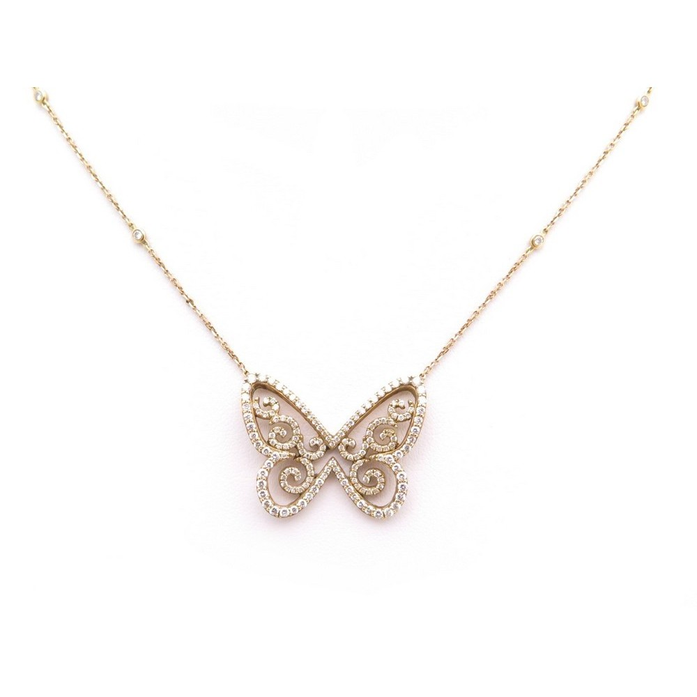 Collier Messika Butterfly Arabesque Or Rose