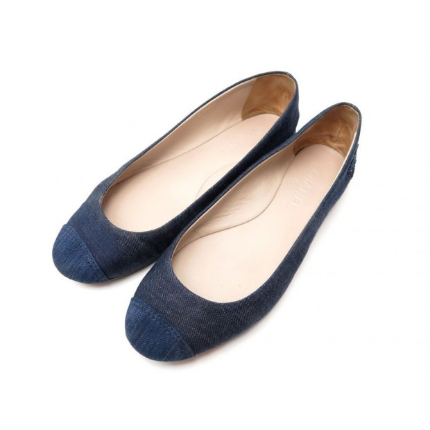 59eb20a85aa9 chaussures chanel g26555 40 ballerines denim bleu