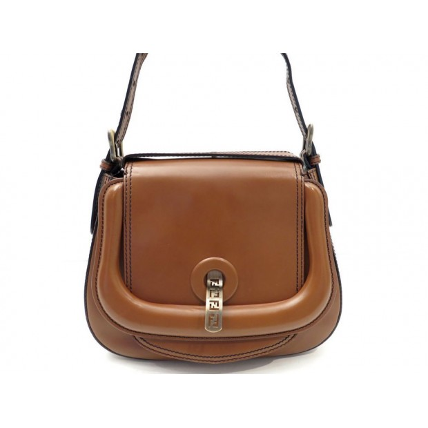 SAC A MAIN FENDI D-BAG SMALL 8BR544 26 CM EN CUIR MARRON HAND BAG PURSE 1350€