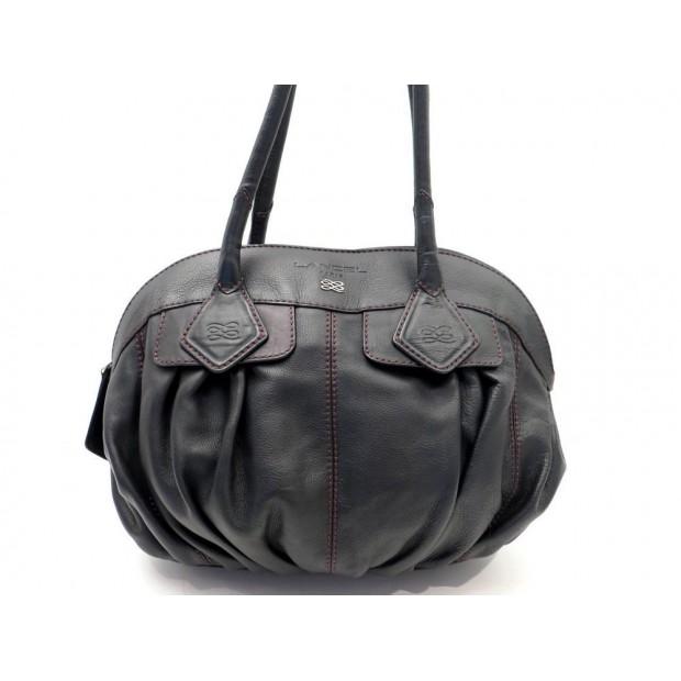 SAC A MAIN LANCEL GOUSSET 40 CM CABAS EN CUIR MARRON LEATHER HAND BAG PURSE 500€