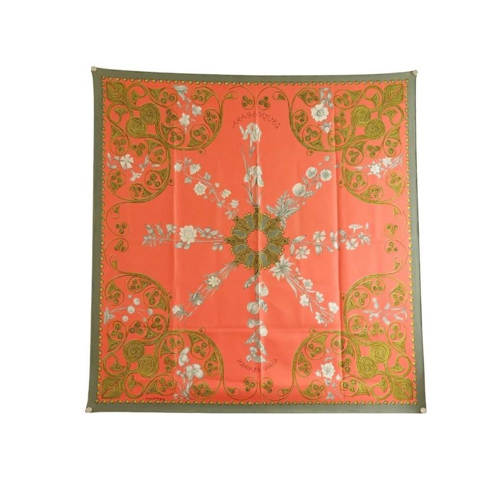 foulard hermes arabesques henry d origny carre en soie 50be2c1dddd