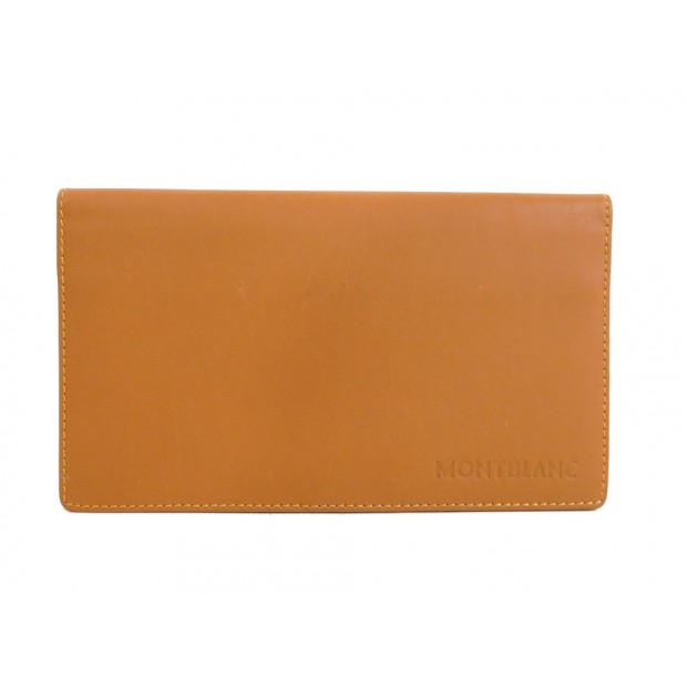 PORTEFEUILLE MONTBLANC PORTE CHEQUIER EN CUIR MARRON CARTE BROWN LEATHER WALLET