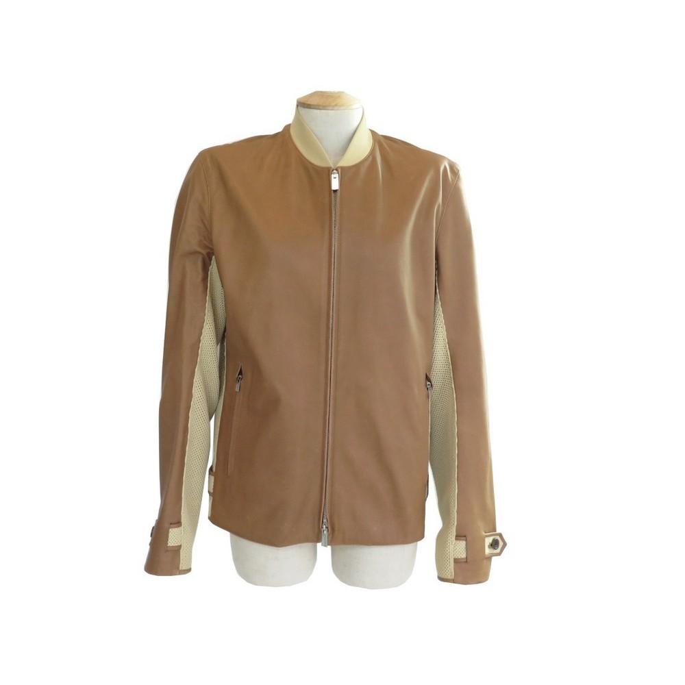veste hermes 46 s blouson homme en cuir marron abec09752fa