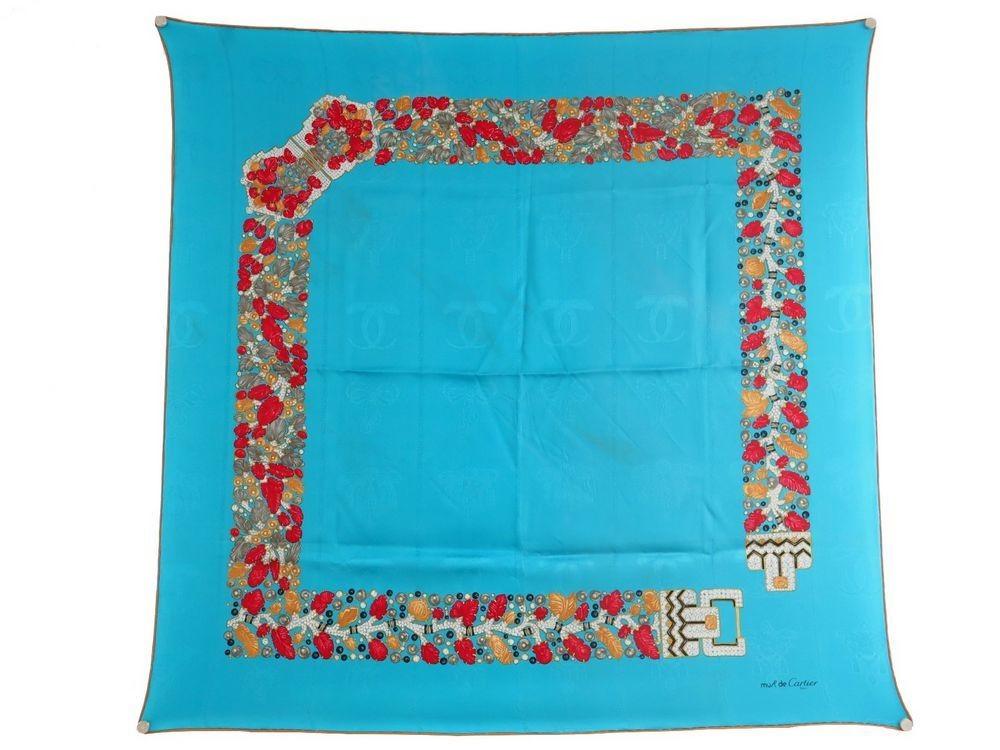 d2ec9fbb91e foulard must de cartier ceinture bijou en soie bleu