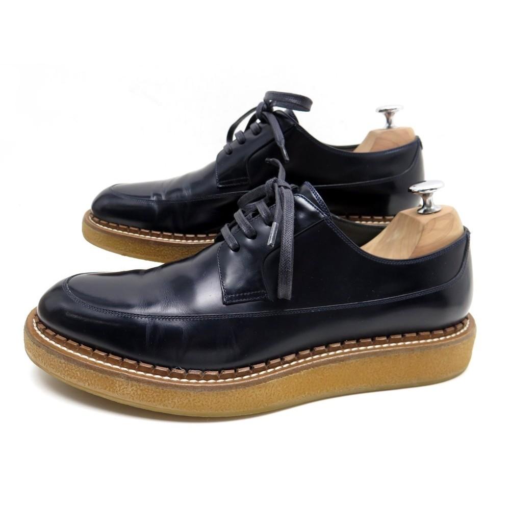 chaussures dior homme 16hbm 43 derby cuir bleu e64e0d699f6