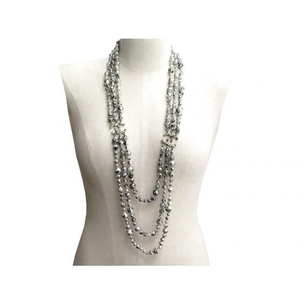 bc69f5bca8c2 collier chanel sautoir 81 cm metal perles noir