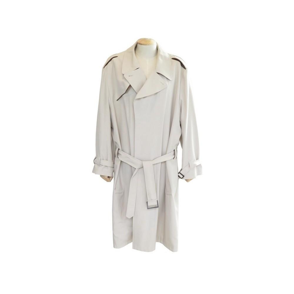 3be171ac7850 manteau hermes 58 xl impermeable homme en laine beige