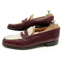 CHAUSSURES JM WESTON 117 MOCASSINS BI MATIERE 8.5D 42.5