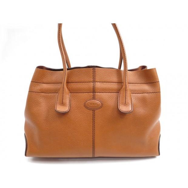 SAC A MAIN TOD'S D-BAG CABAS 35 CM EN CUIR CAMEL MARRON HAND BAG PURSE 1000€