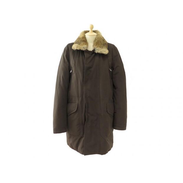 e5cbf67c7cb manteau moncler t3 50 l parka doudoune marron avec col