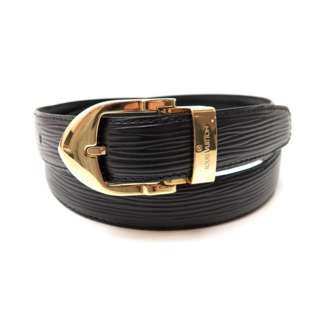 San Francisco 3b269 e41a0 ceinture louis vuitton en cuir epi noir taille 75