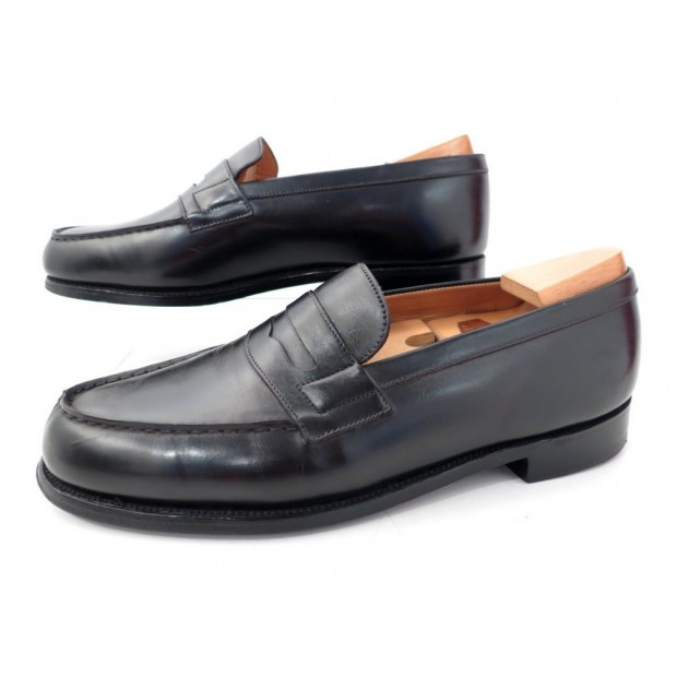 CHAUSSURES JM WESTON MOCASSINS 180 6.5D 41 EN CUIR NOIR + EMBAUCHOIRS SHOES 630€