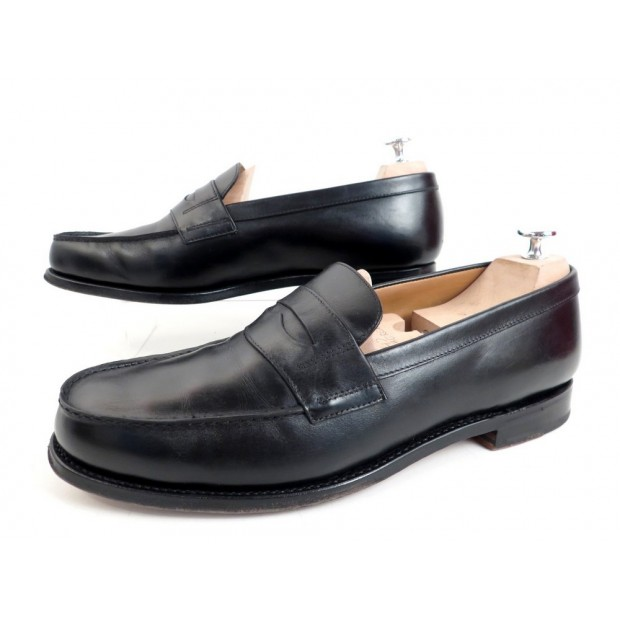 CHAUSSURES FINSBURY COLLEGE MOCASSINS 45 46 EN CUIR NOIR + POCHONS SHOES 220€