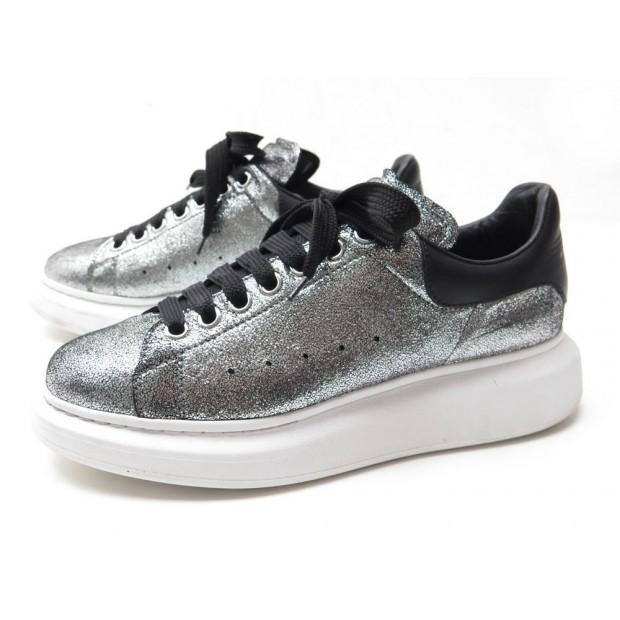 officiel mode la plus désirable meilleure vente chaussures alexander mcqueen 470631 40 baskets cuir