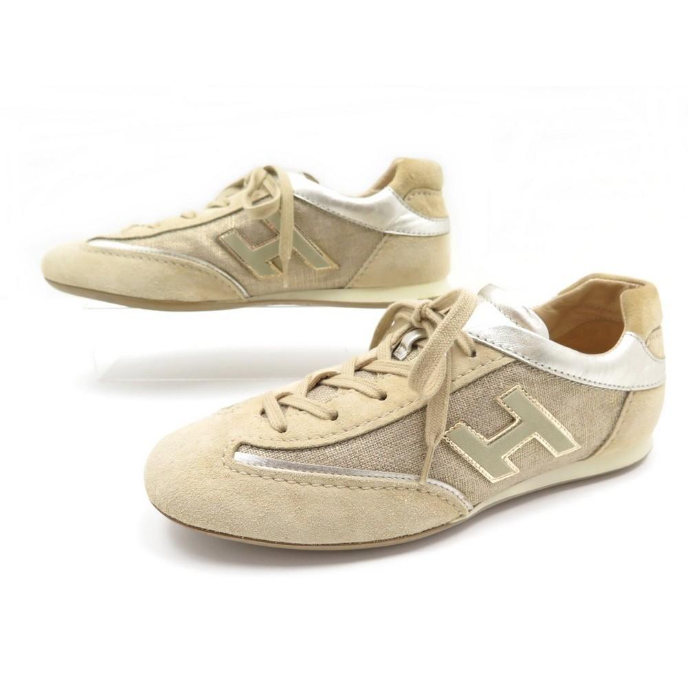 vente chaude en ligne 2504c b0c2f chaussures hogan olympia 36 baskets daim toile