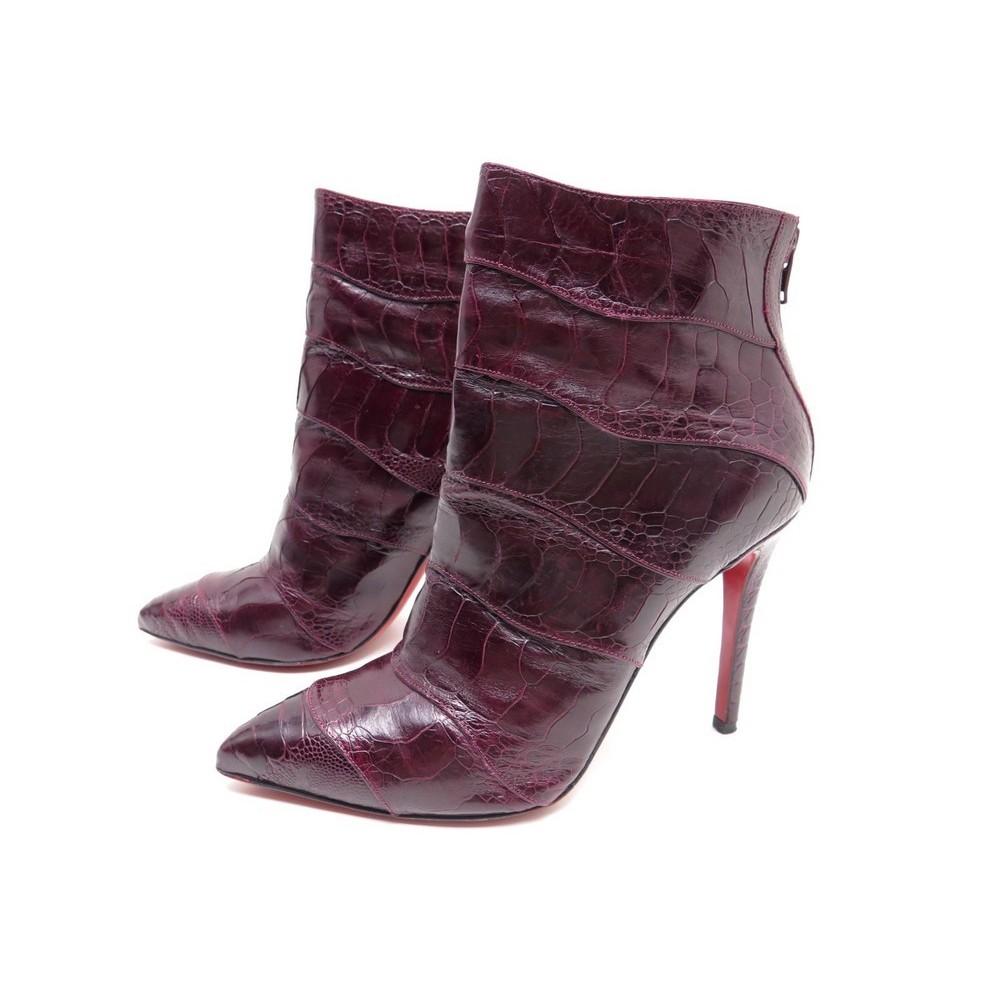 chaussures de séparation cba7c 80756 chaussures christian louboutin 39.5 bottines en cuir