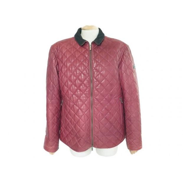 bb39e3f57da0 manteau armani jeans m 50 blouson en cuir matelasse