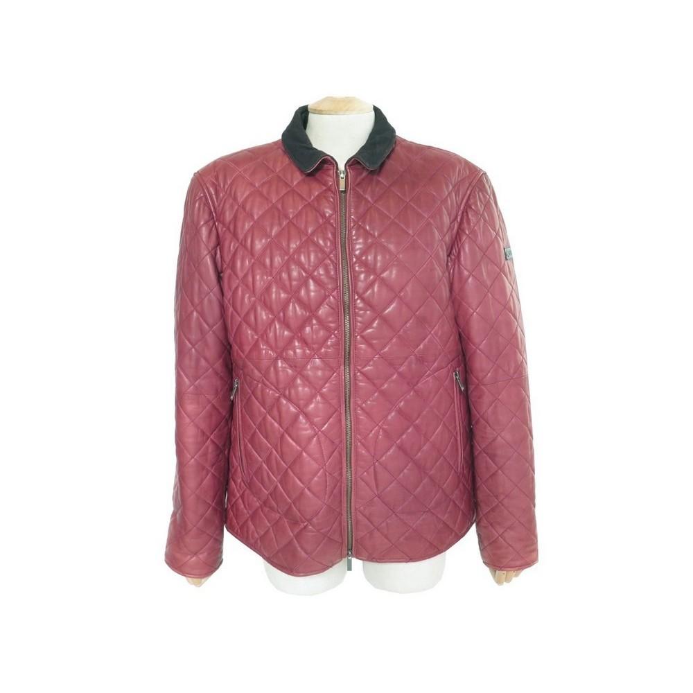 5167208a7580 manteau armani jeans m 50 blouson en cuir matelasse