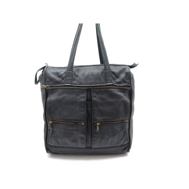 SAC A MAIN YVES SAINT LAURENT 233620 EN CUIR GRAINE NOIR HAND BAG PURSE 900€