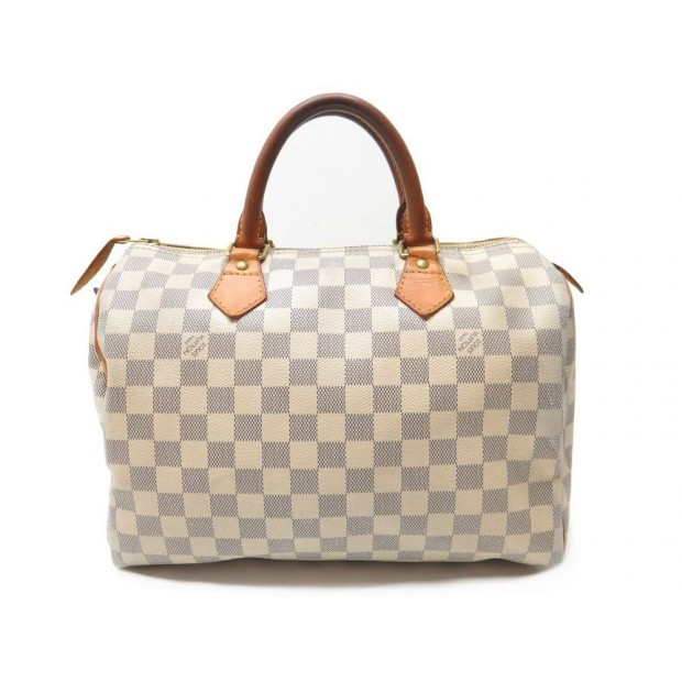 ... SAC A MAIN LOUIS VUITTON SPEEDY 30 EN TOILE DAMIER AZUR CADENAS BAG  PURSE 760€ ... 3007ced8920