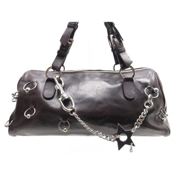 sac a main dior piercing cuir marron hand bag leather 3c6a149a3b0