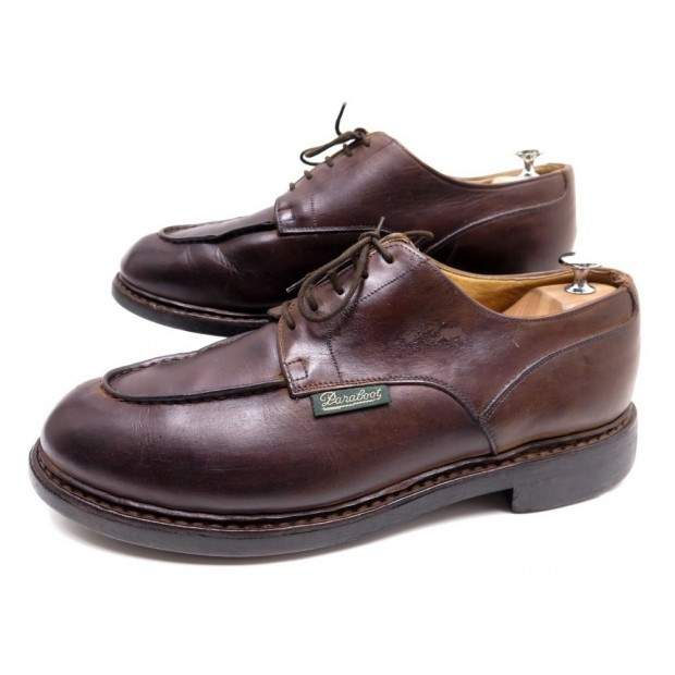 CHAUSSURES PARABOOT CHAMBORD 10 44 DERBY EN CUIR MARRON BROWN LEATHER SHOES 345€
