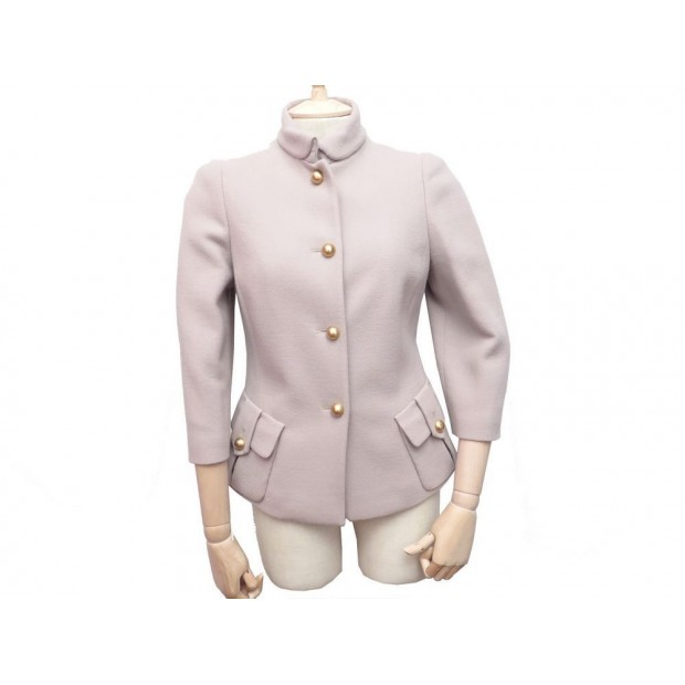 NEUF VESTE FENDI FEMME 40 IT 38 FR EN LAINE TAUPE WOMAN WOOL JACKET 1300€