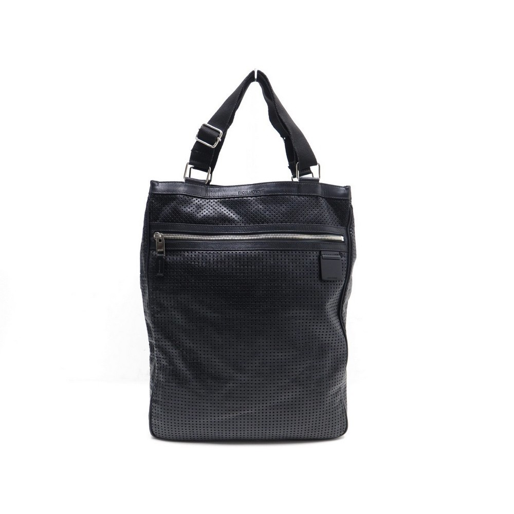 a8a240a78bb7 SAC BESACE DIOR HOMME SACOCHE BANDOULIERE EN CUIR NOIR BLACK MESSENGER.  Loading zoom