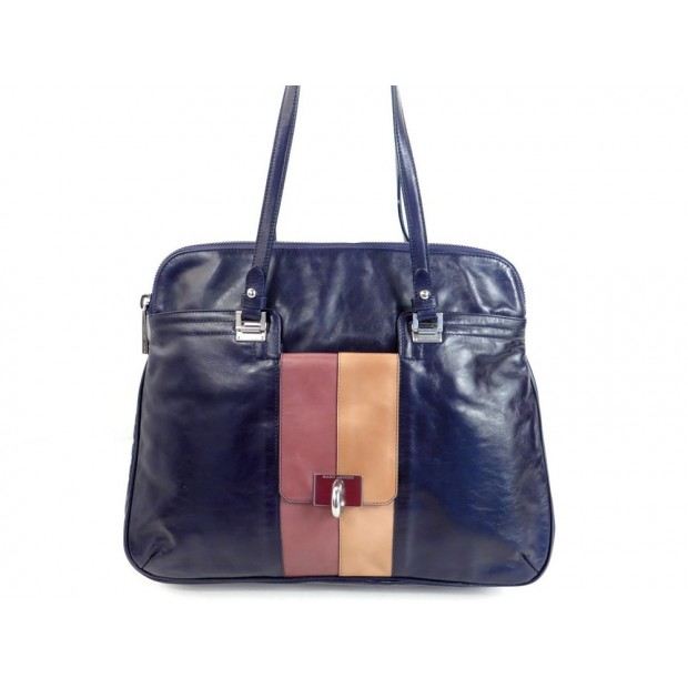 NEUF SAC A MAIN MARC JACOBS PORTE EPAULE EN CUIR BLEU HAND BAG + DUSTBAG 870€