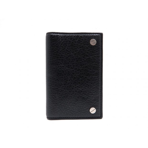NEUF PORTE CARTES BALENCIAGA ORGANIZER 298761 EN CUIR NOIR CARD HOLDER 185€