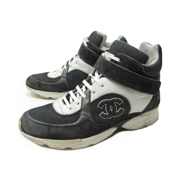 9cab9a4ccb1 CHAUSSURES CHANEL BASKETS MONTANTES 41 HOMME SNEAKERS