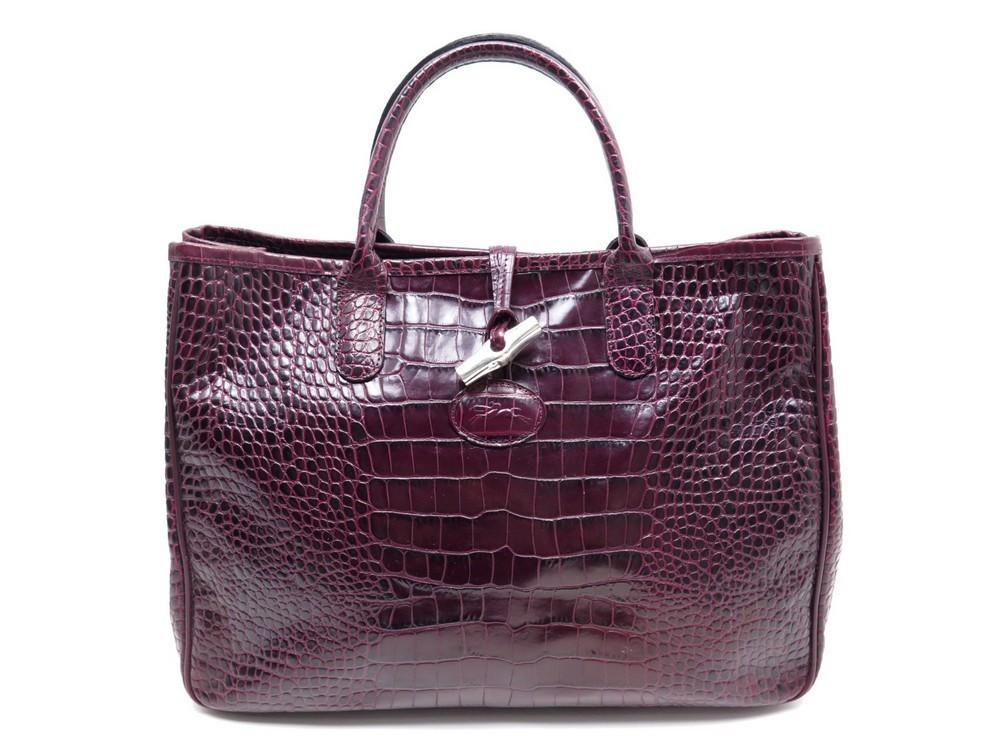 Handbag Roseau L L1681158161 Longchamp Borsa Tote Croco 4qFEH4Snw0